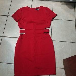 Lulus Feeling the Heat red cutout bodycon dress